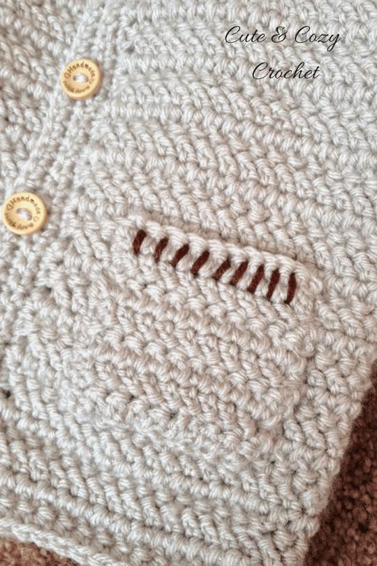 Herringbone Baby Sweater - Cute & Cozy Croch