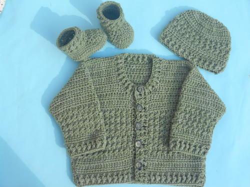 Easy Crochet Baby Cardigan | AllFreeCrochet.c