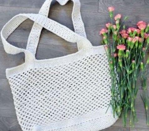 Crochet Market Tote Bag Free Patte