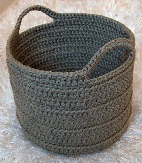 DIY Free Crochet Floor Basket Pattern - Croc