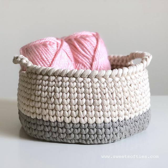 Knit Stitch Crochet Basket Free Crochet Pattern | Free Crochet .