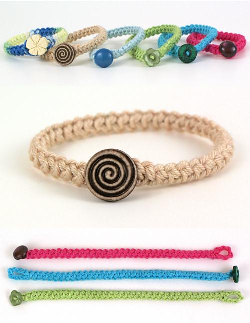 Crochet Braid Bracelet DONATIONWARE crochet pattern : PlanetJune .
