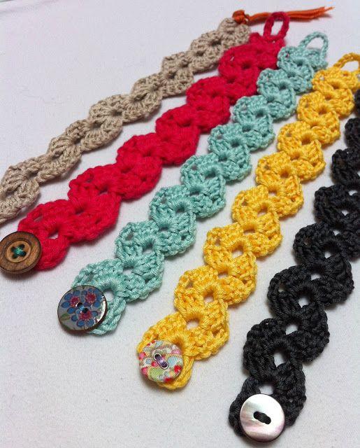 free pattern | Crochet bracelet pattern, Crochet bracelet, Croch