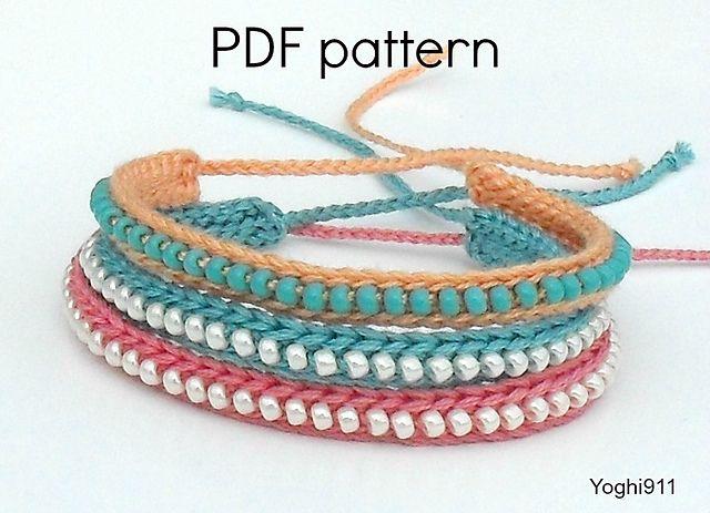 Ravelry: Crocheted Beaded Friendship Bracelet pattern by Fulvia .