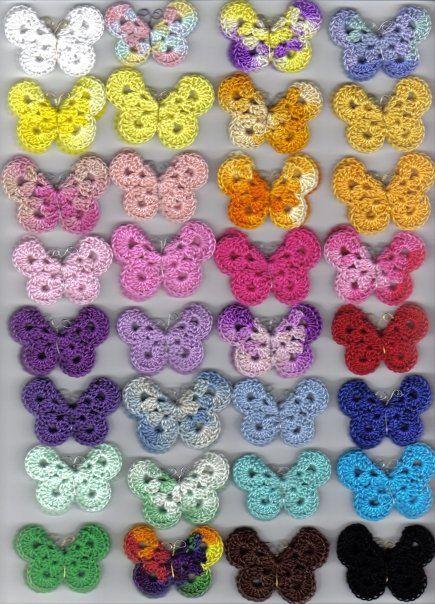 Crochet Butterfly Pattern   Crochet butterfly pattern, Crochet .