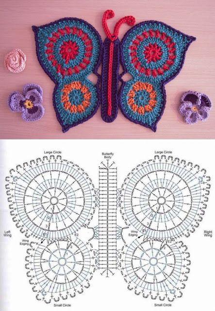 50+ Free Crochet Butterfly Patterns ⋆ Crochet Kingd