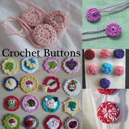 Five Ways To Crochet Your Own Buttons   Crochet buttons, Crochet .