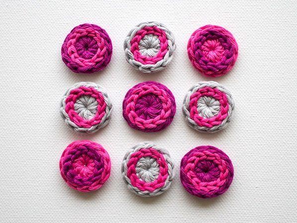 How-To: Cool Crocheted Buttons   Crochet buttons, Crochet, Crochet .