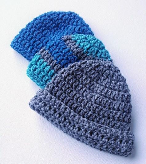 Easy Baby Crochet Hat Pattern for Beginners - JJCroch