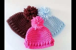 simple and Easy Crochet Baby Hat/Beanie - YouTu