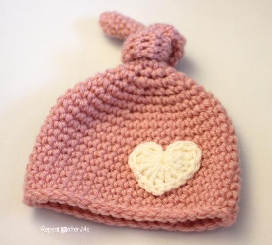 Crochet Newborn Knot Hat Pattern - Repeat Crafter