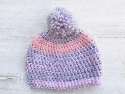 Free Baby Beanie Crochet Pattern | Easy Baby Hat Pattern for Beginne