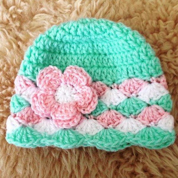 Crochet Baby Beanie. … | Easy crochet hat, Crochet hats, Crochet .