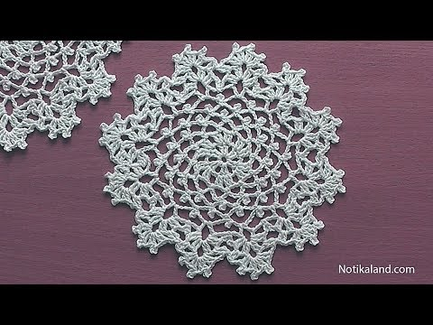 How to crochet a doily Part 1 Easy Crochet Doily for Beginners .
