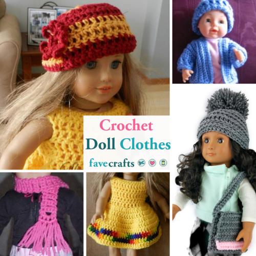 12+ Free Crochet Doll Clothes Patterns | FaveCrafts.c