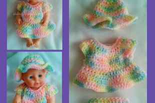Doll Clothes {Free Crochet Pattern} | Crochet doll clothes free .