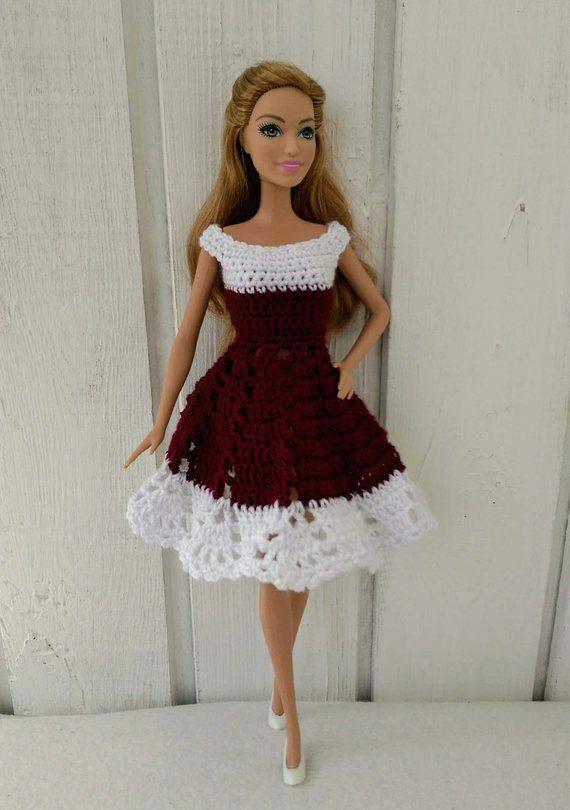 Karen Kane Womens Crochet Medium | Crochet doll dress, Barbie .