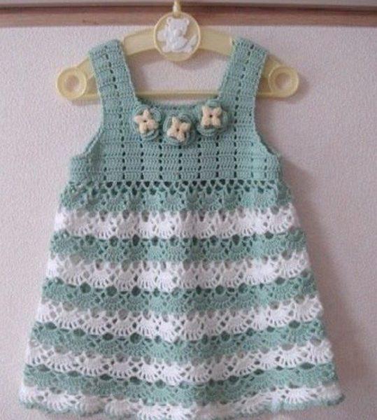 Crochet baby dresses easy free pattern | Free Crochet Patter
