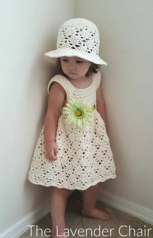Vintage Toddler Dress Crochet Pattern - The Lavender Cha