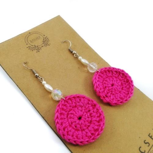 Magentic Aura Crochet Earri