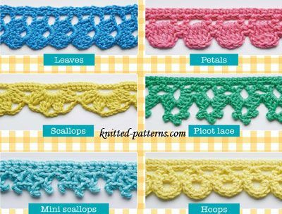 Crochet edging styles you won't learn from your friends | Crochet .