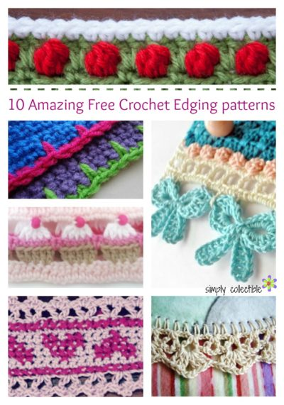 10 Amazing Free Crochet Edging patterns you will love! • Simply .