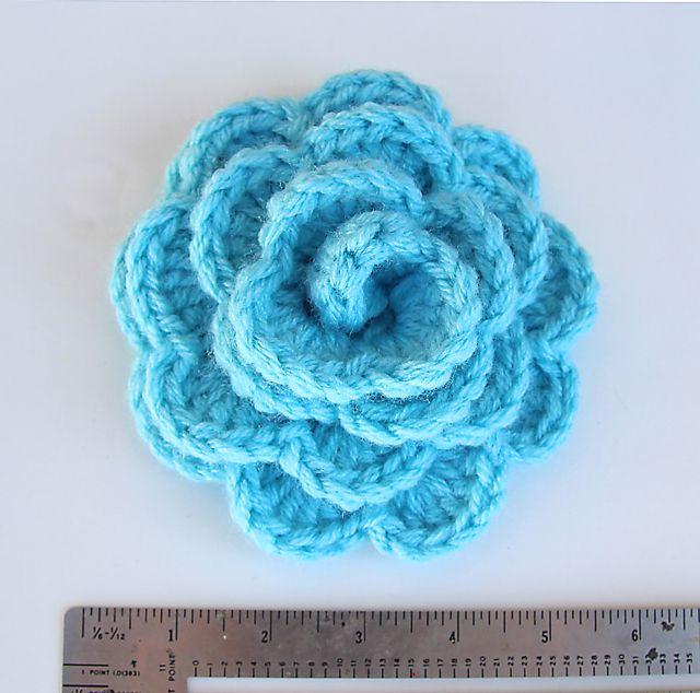 Giant Crocheted Rosette Flower | Crochet flower patterns, Crochet .
