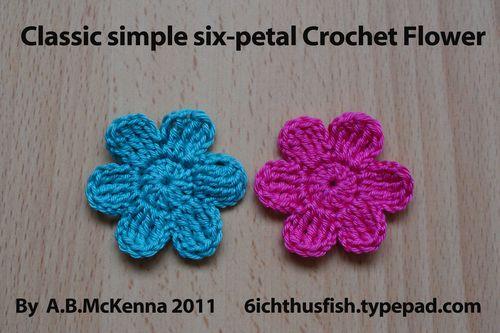 6ichthusfish: Free Crochet Flower Pattern.