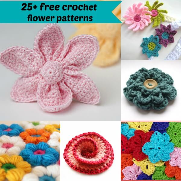 25+ free easy crochet flowers patterns | jennyandted