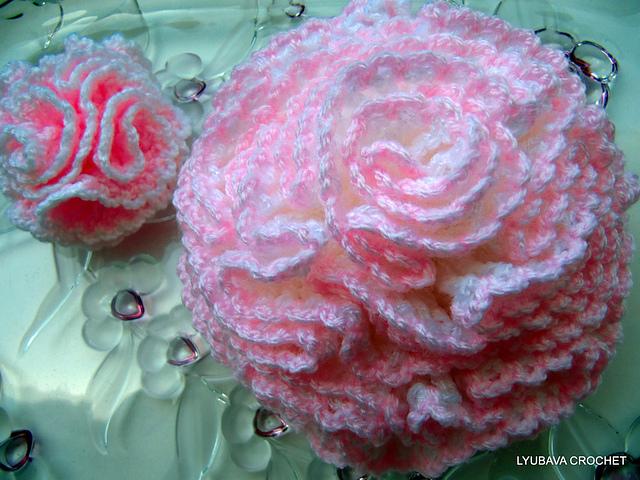 Ravelry: Carnation Flower Tutorial Crochet Pattern pattern by Lyuba