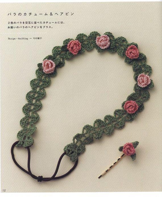Crochet hair accessories pattern by LibraryPatterns | Crochet hair .