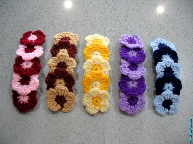 Crochet Hair Accessories- Flower | Hand crochet flower hair … | Flic