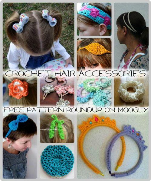 Crochet Hair Accessories: 12 Free Patterns! | Crochet hair .