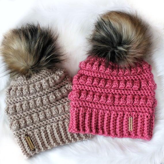 Easy Crochet pattern-Crochet hat ISABEL Beanie Hat | Et