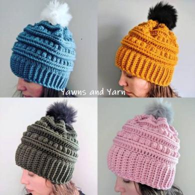 The Bert – Crochet Hat Pattern | Yawns And Ya