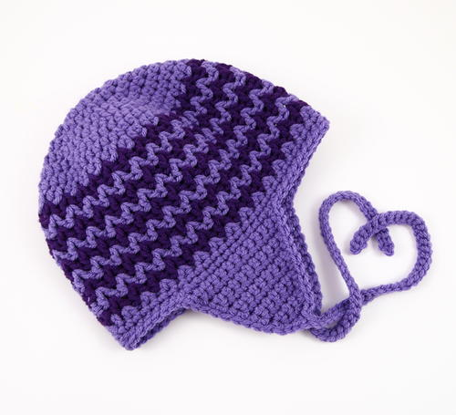 Zigzag Earflap Crochet Hat | AllFreeCrochet.c