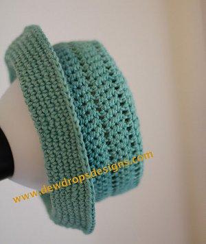 Teal Crochet Hat with Brim | FaveCrafts.c