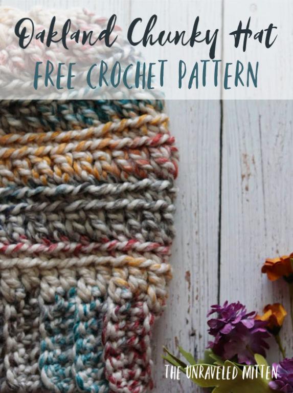 Oakland Chunky Crochet Hat Free Pattern | The Unraveled Mitt