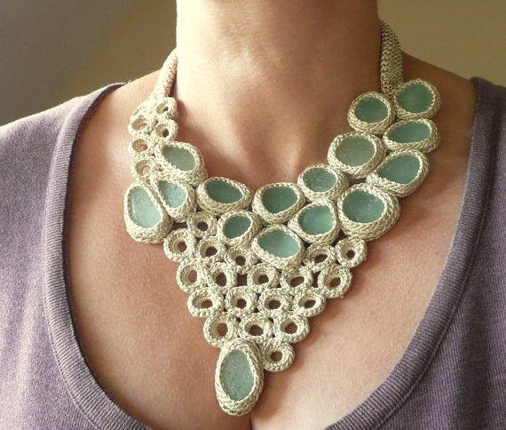 Unique Crochet Jewelry and More from Etsy Artist Asta – Crochet .