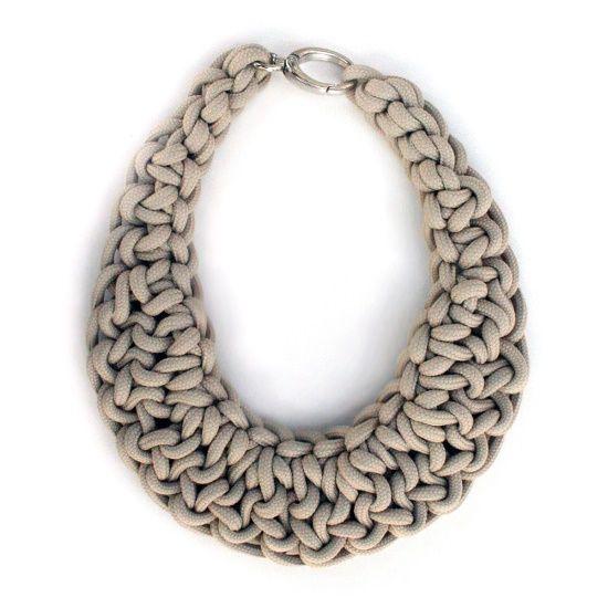 DIY Crochet Necklaces | Crochet necklace, Crochet jewle