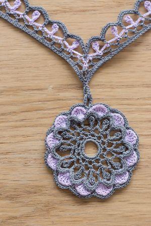 This thread crochet necklace is stunning! Vasantasri Necklace .