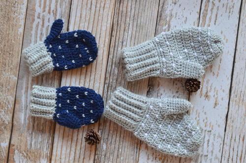 Snow Crochet Mittens | AllFreeCrochet.c