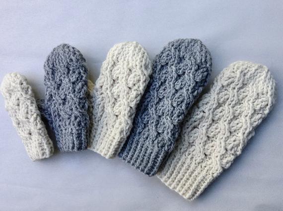 Crochet Pattern Crochet Mitten Pattern The Cadence Mittens | Et
