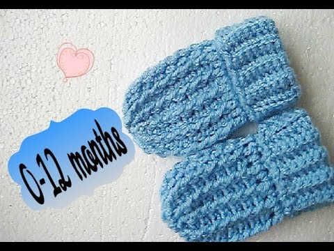Easy crochet Baby Mittens gloves tutorial mitts 0-12 months Happy .