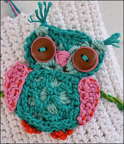 Ravelry: Applique Crochet Owl pattern by Anji Bea