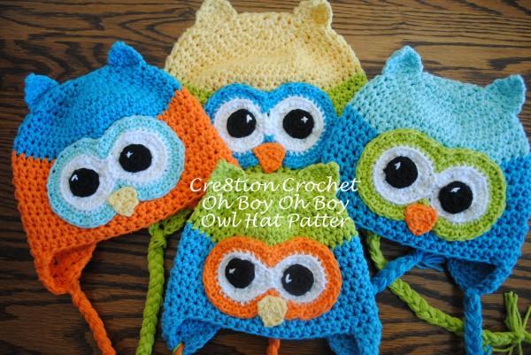 Free Crochet Owl Hat Pattern- Oh Boy Oh Boy Owl – Cre8tion Croch