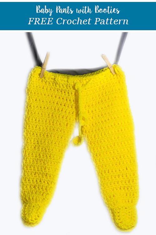 Crochet Footed Baby Pants | AllFreeCrochet.c