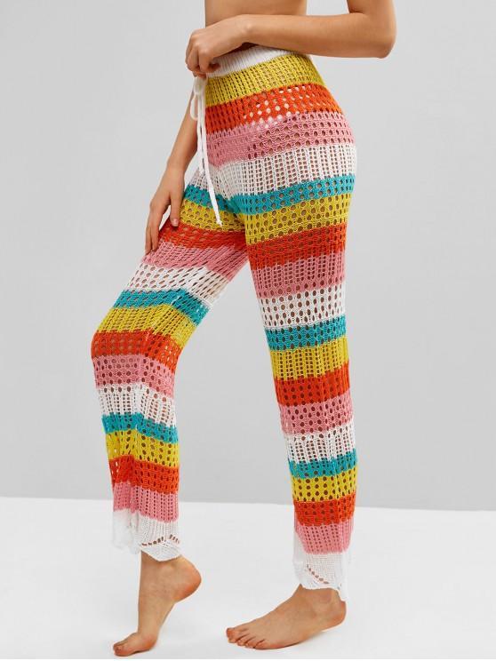 73% OFF] 2020 Color Block Crochet Pants In MULTI-A | ZAFUL United .