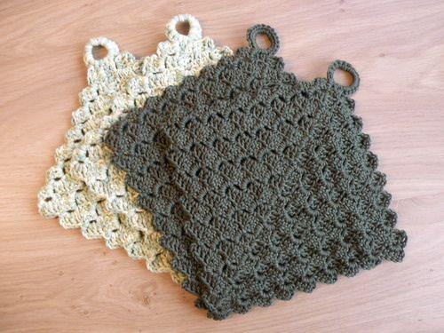 Pot holders for my mother (crochet) | Crochet crafts, Crochet .
