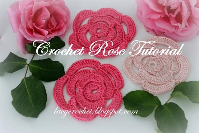 Lacy Crochet: Crochet Rose Tutori